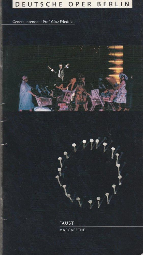 Programmheft Charles Gounod FAUST MARGARETHE Deutsche Oper Berlin 1998 2000