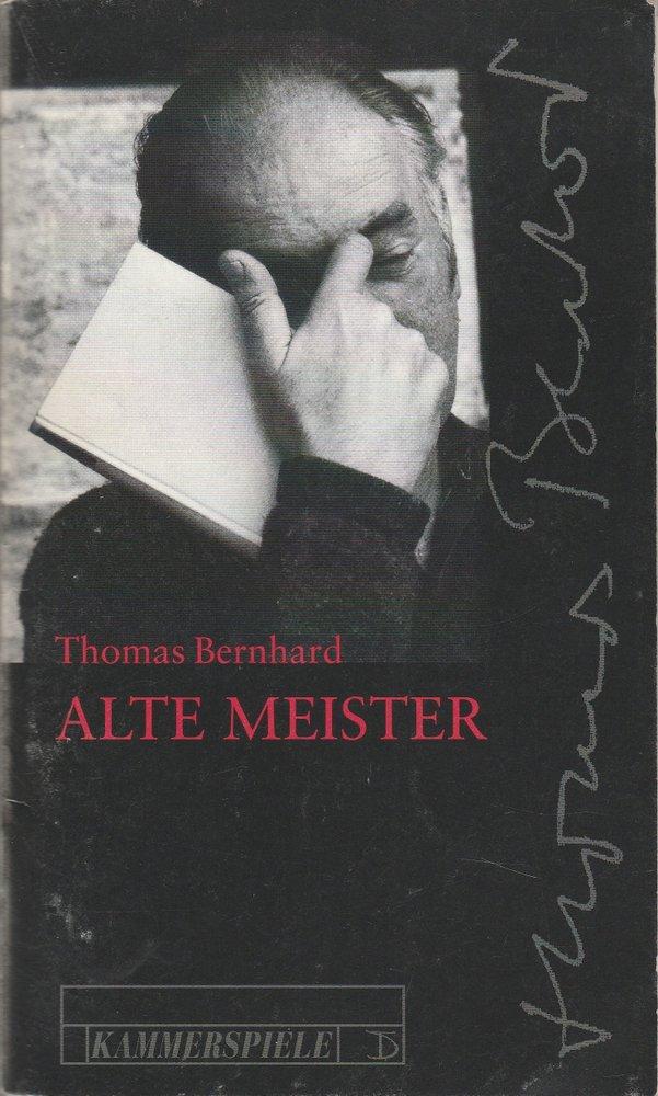 Programmheft Thomas Bernhard ALTE MEISTER Deutsches Theater Berlin 1997