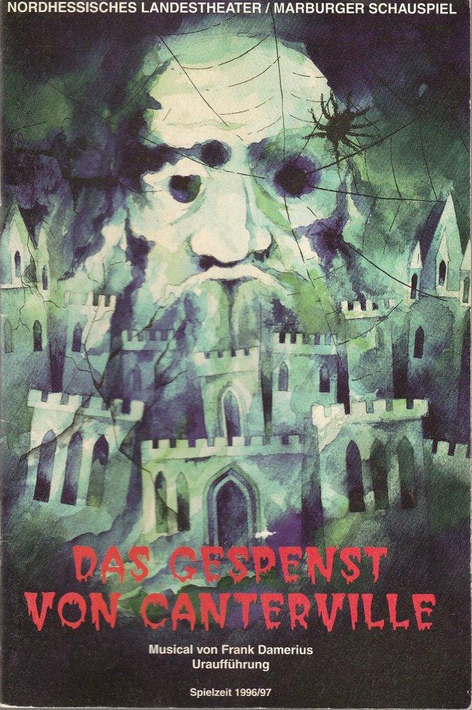 Programmheft Uraufführung DAS GESPENST VON CANTERVILLE Marburg 1997