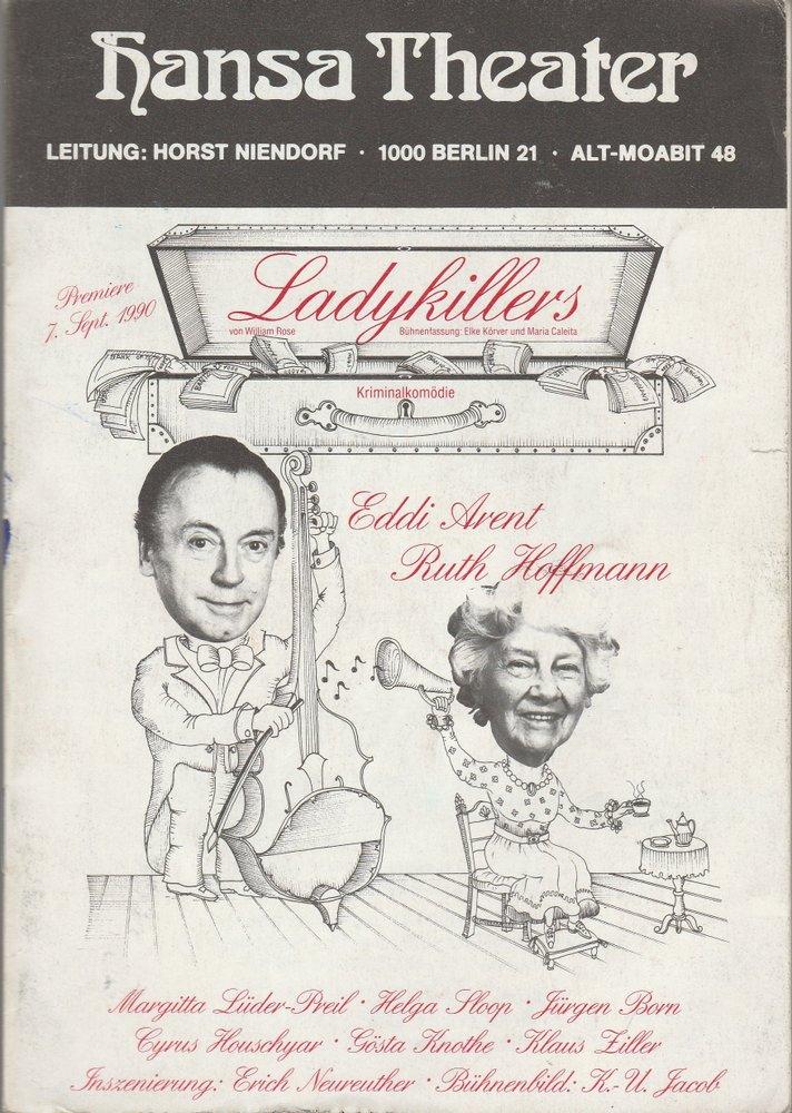 Programmheft William Rose LADYKILLERS Hansa Theater Berlin 1990