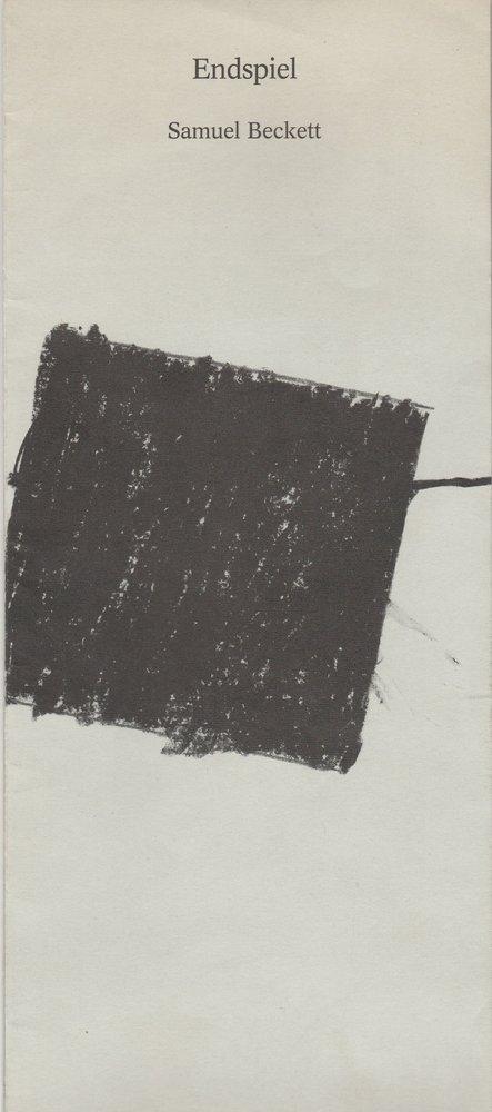 Programmheft Samuel Beckett ENDSPIEL Vaganten-Bühne Berlin 1990