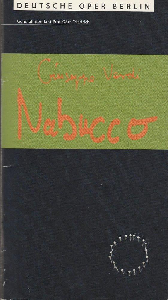 Programmheft Giuseppe Verdi NABUCCO Deutsche Oper Berlin 2000