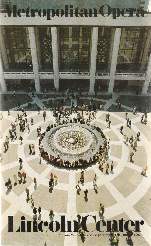 Programmheft Richard Wagner TRISTAN UND ISOLDE Metropolitan Opera 1981