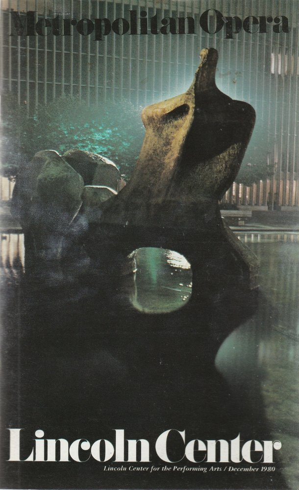 Programmheft Alban Berg LULU Metropolitan Opera 1980