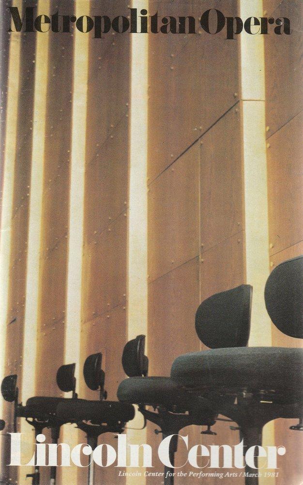 Programmheft Kurt Weill RISE AND FALL OF THE CITY OF MAHAGONNY New York 1981