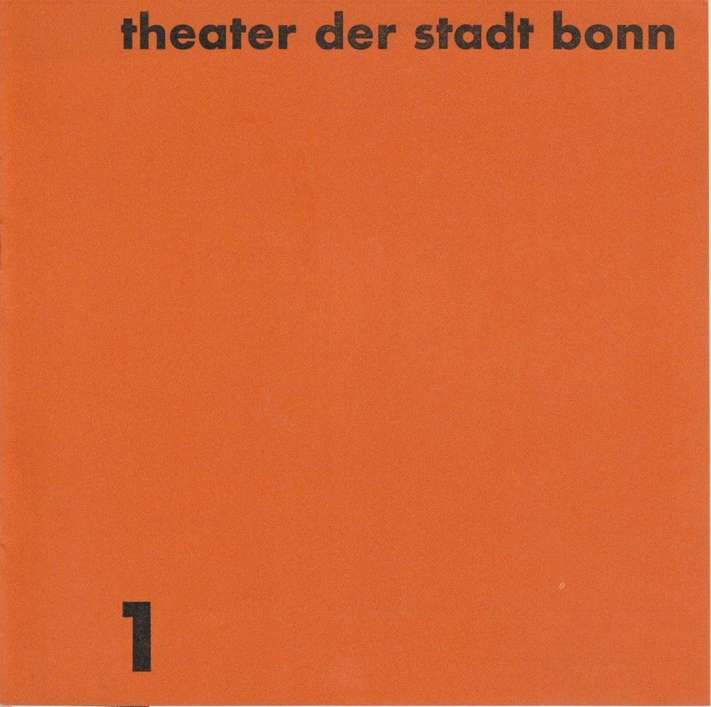 Programmheft Modest Mussorgski BORIS GODUNOW Theater Bonn 1968