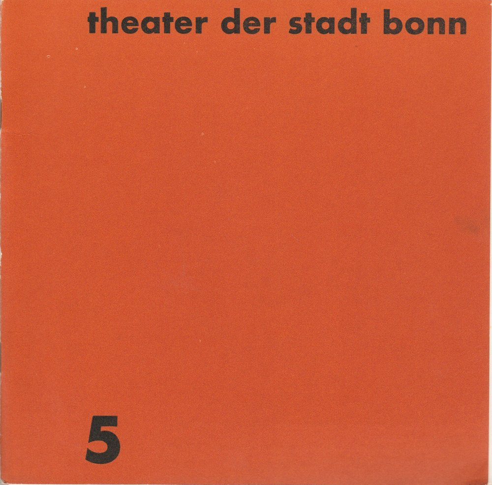 Programmheft Gaetano Donizette LUCIA DI LAMMERMOOR Theater Bonn 1968