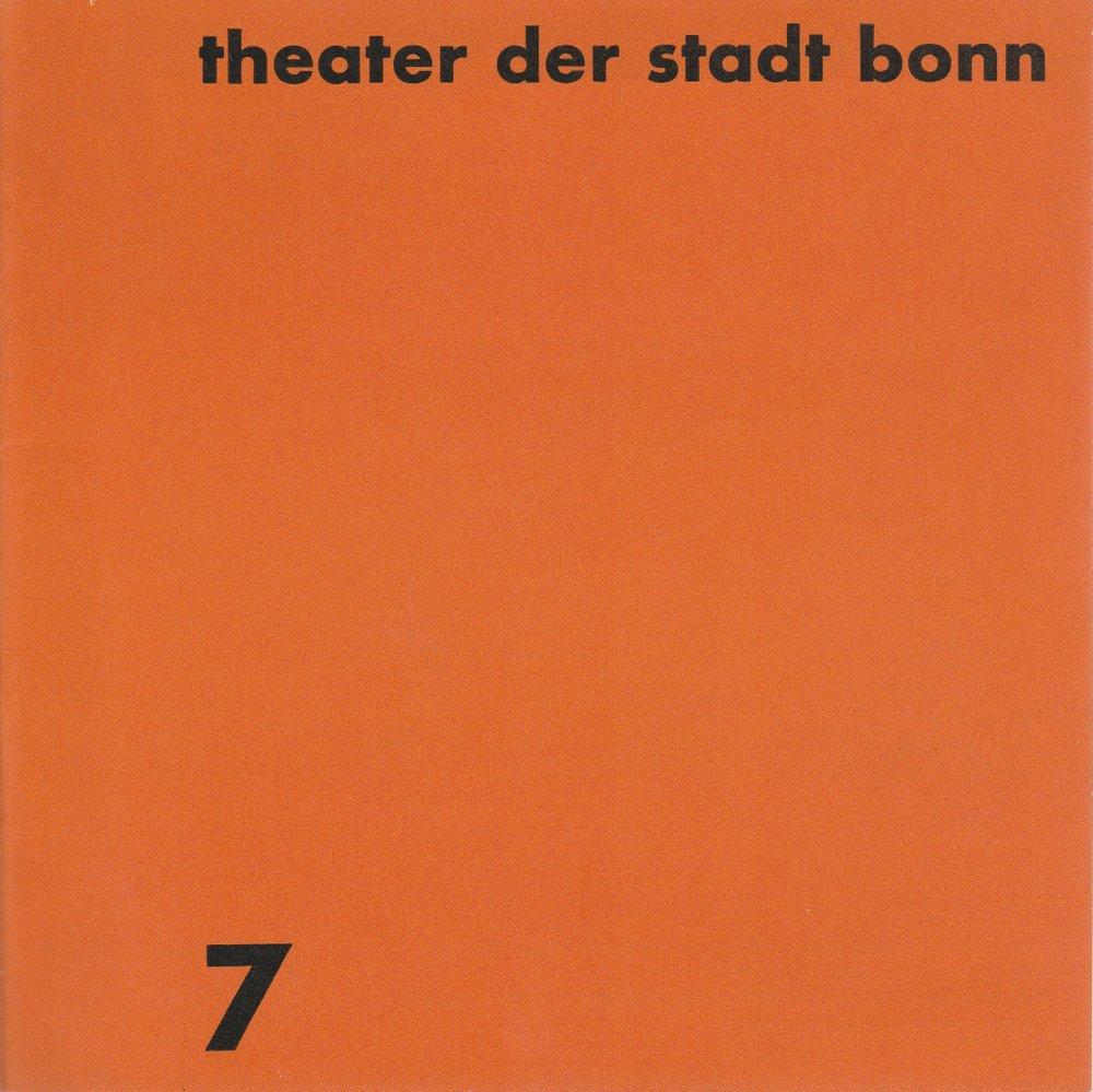 Programmheft Igor Strawinsky THE RAKE'S PROGRESS Theater Bonn 1968