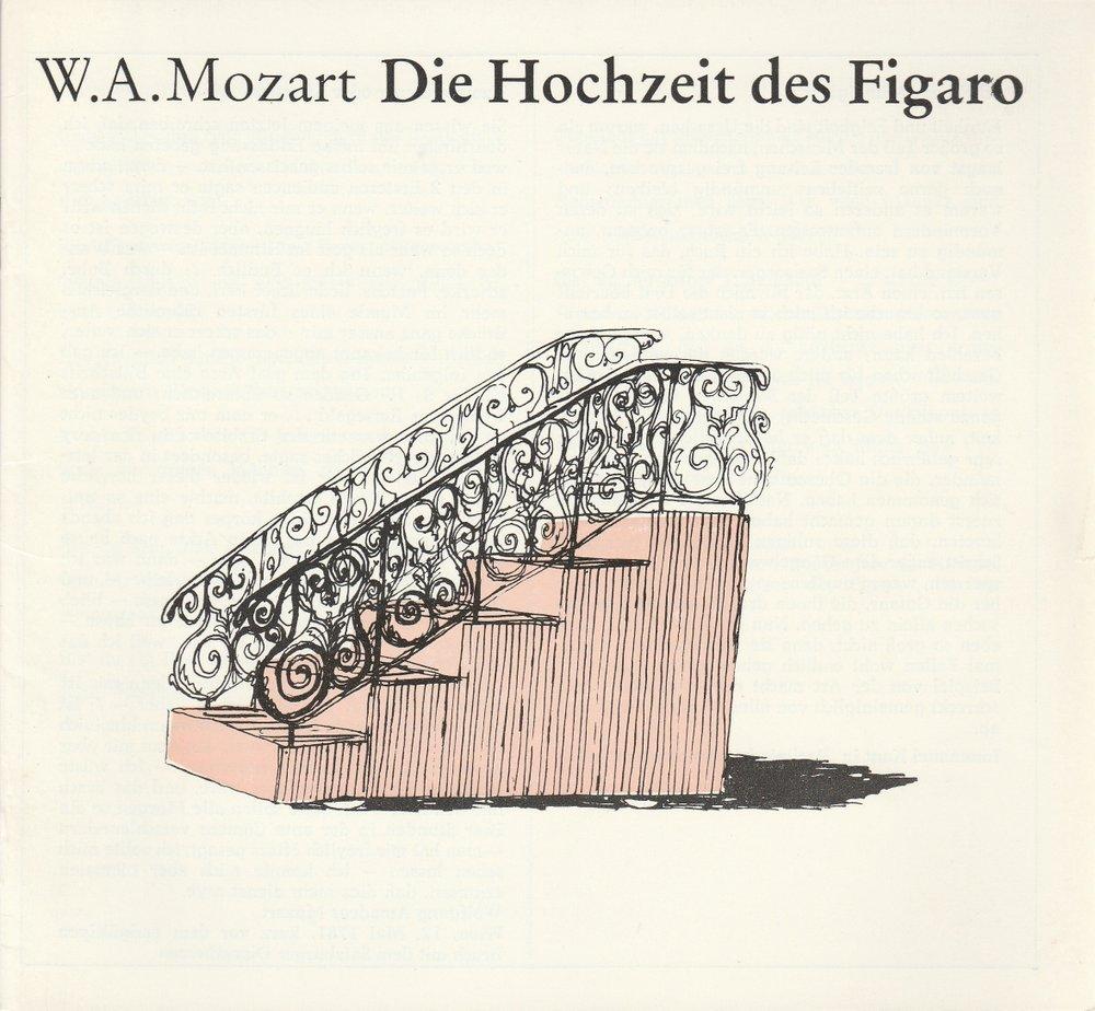 Programmheft Wolfgang A. Mozart DIE HOCHZEIT DES FIGARO Hans-Otto-Theater 1987