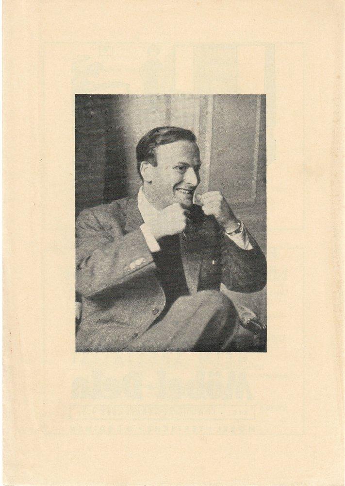 Programmheft YEHUDI MENUHIN Vereinigte Hamb. Orchester Ostseehalle Kiel 1959