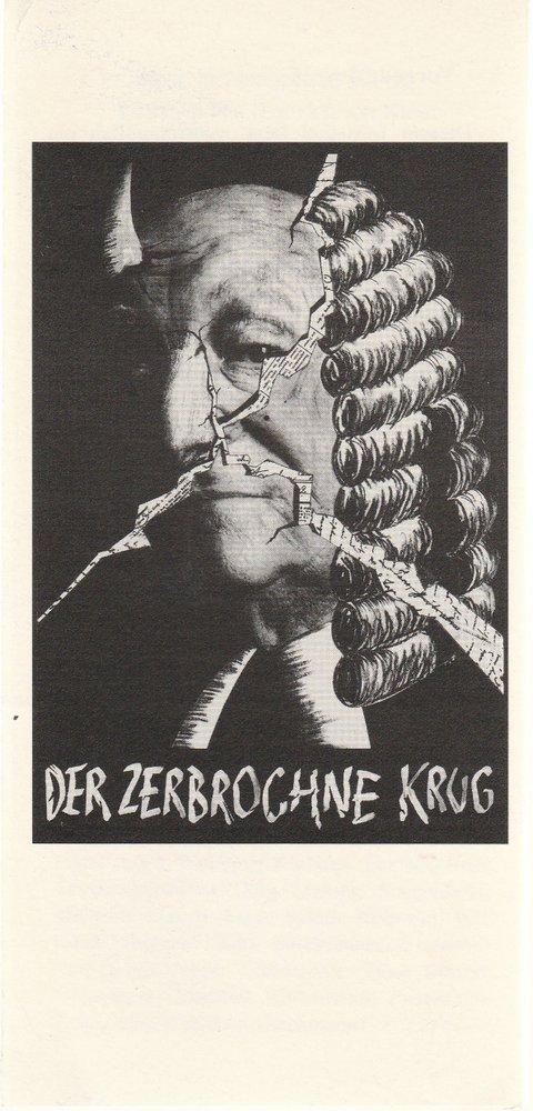 Programmheft Heinrich von Kleist DER ZERBROCHNE KRUG Bühnen Anklam 1996