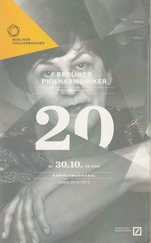 Programmheft BERLINER PHILHARMONIKER 2012