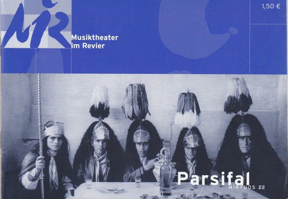 Programmheft Richard Wagner PARSIFAL Musiktheater im Revier 2003