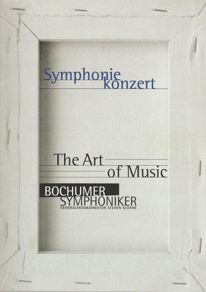 Programmheft SYMPHONIEKONZERT THE ART OF MUSIC Bochumer Symphoniker 2000