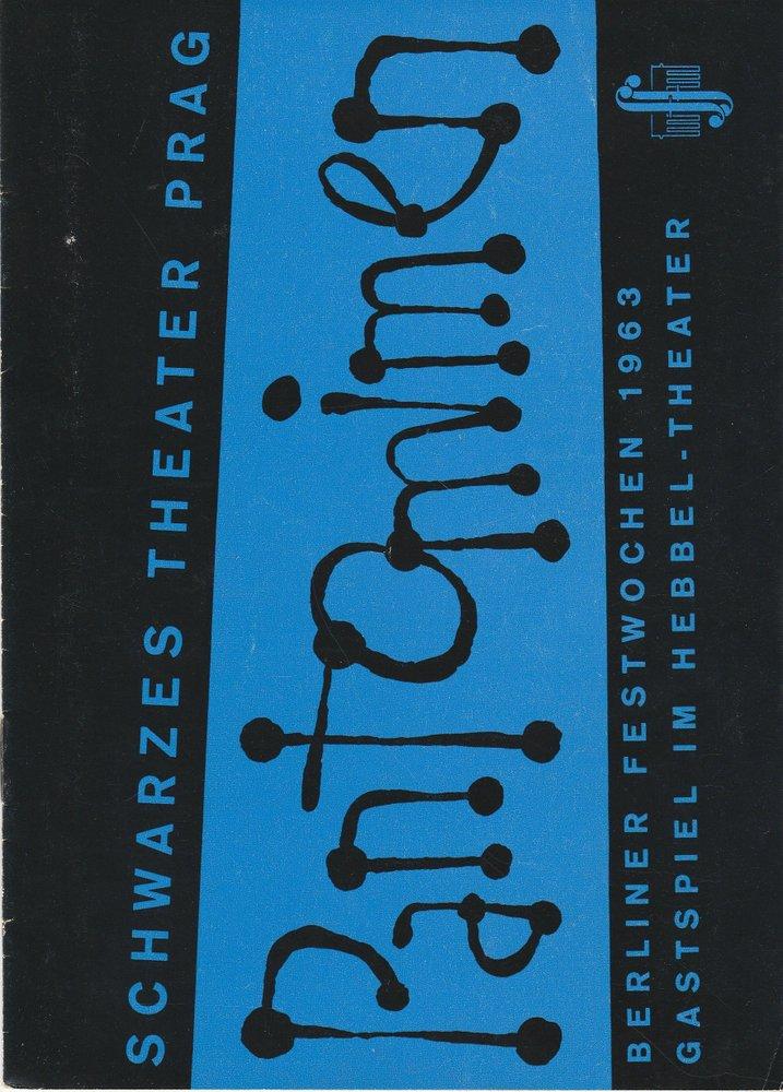 Programmheft SCHWARZES THEATER PRAG PANTOMIMEN Berliner Festwochen 1963