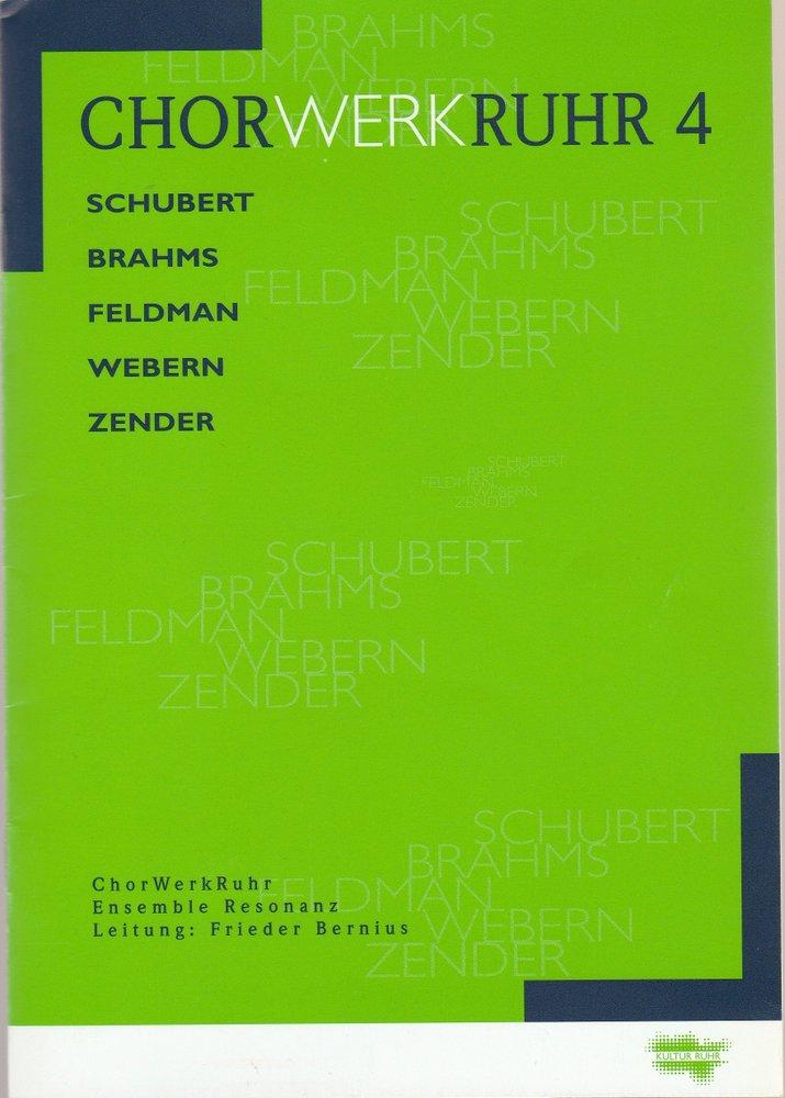 Programmheft CHORWERKRUHR 4 ENSEMBLE RESONANZ  2000