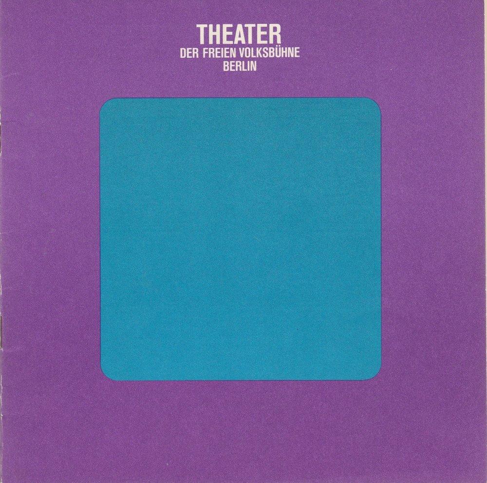 Programmheft Dieter Forte MARTIN LUTHER & THOMAS MÜNZER Freie Volksbühne 1971