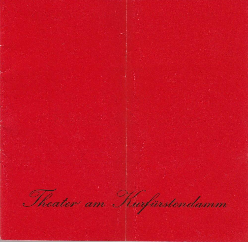 Programmheft Hennequin / Bilhaud IN DER HÖHLE DES LÖWEN The. Kurf.damm 1981