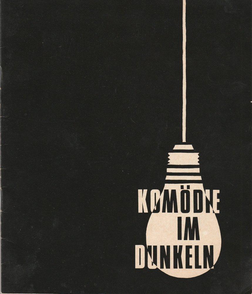 Programmheft Peter Shaffer KOMÖDIE IM DUNKELN Komödie 1967
