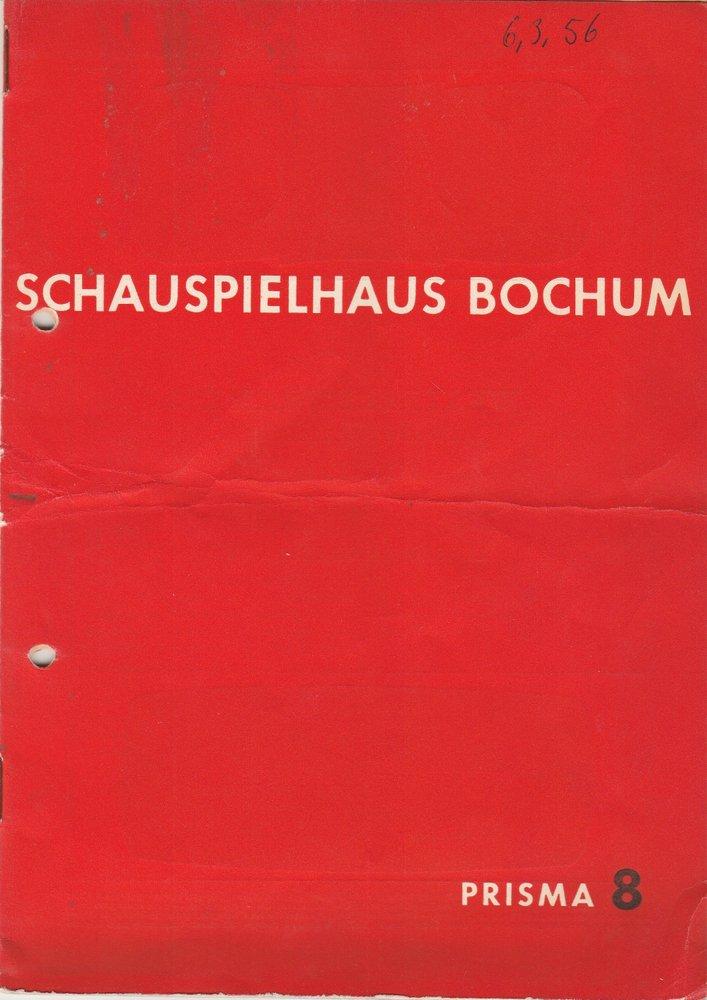 Programmheft Johann Wolfgang Goethe FAUST Schauspielhaus Bochum 1956