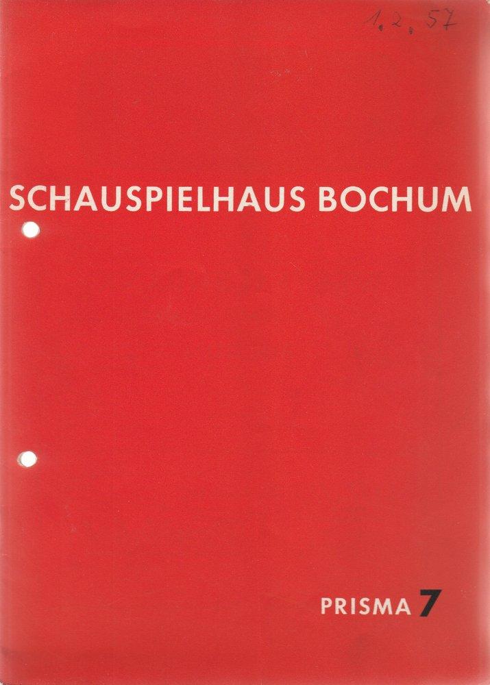 Programmheft William Shakespeare VIEL LÄRM UM NICHTS Schauspielhaus Bochum 1957