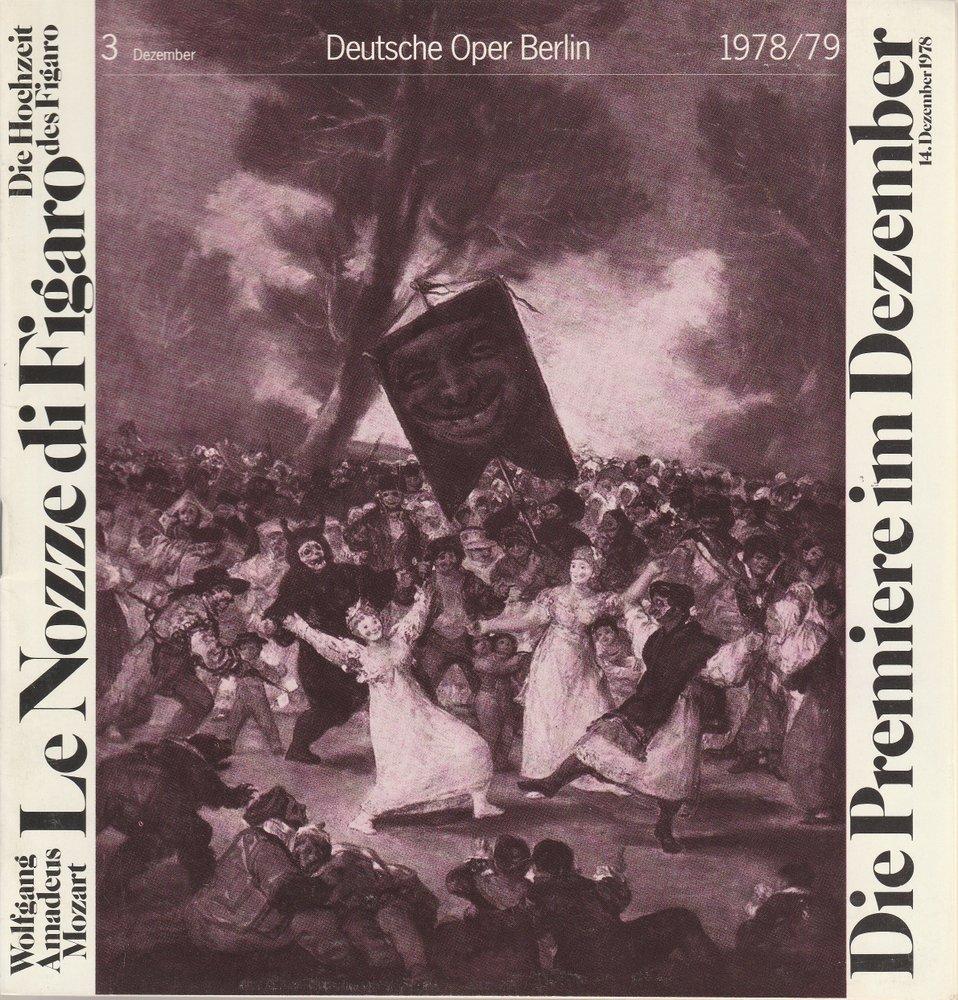 Deutsche Oper Berlin Spielzeit 1978 / 79 Heft 3 Dezember