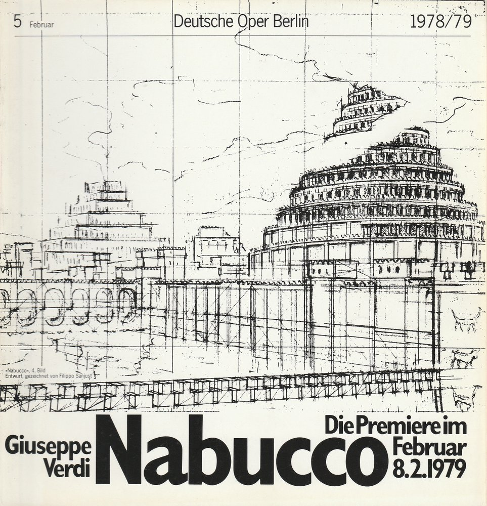 Deutsche Oper Berlin Spielzeit 1978 / 79 Heft 5 Februar