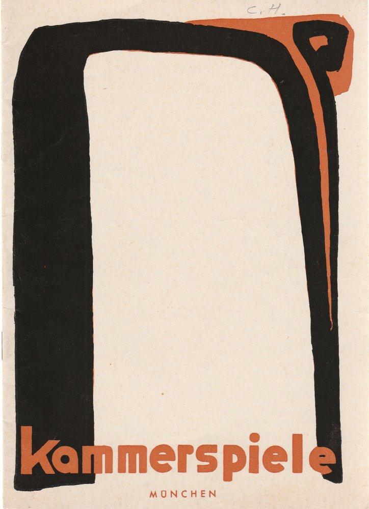 Programmheft Friedrich Schiller KABALE UND LIEBE Münchner Kammerspiele 1965