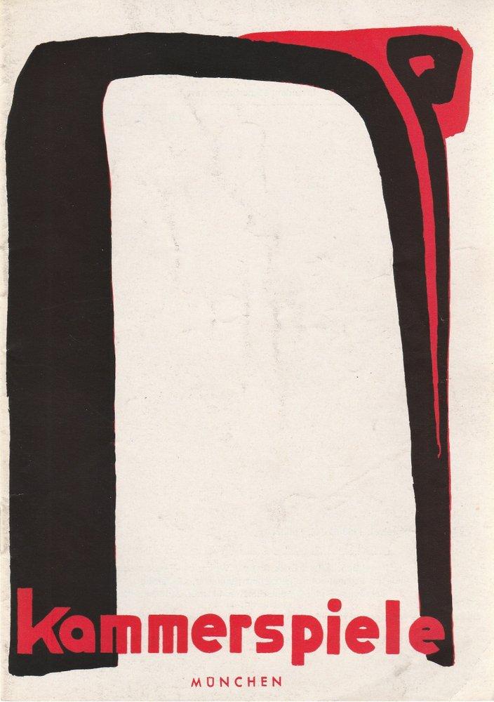 Programmheft R. Rose / H. Budjuhn DIE ZWÖLF GESCHWORENEN Münchn. Kammersp. 1958