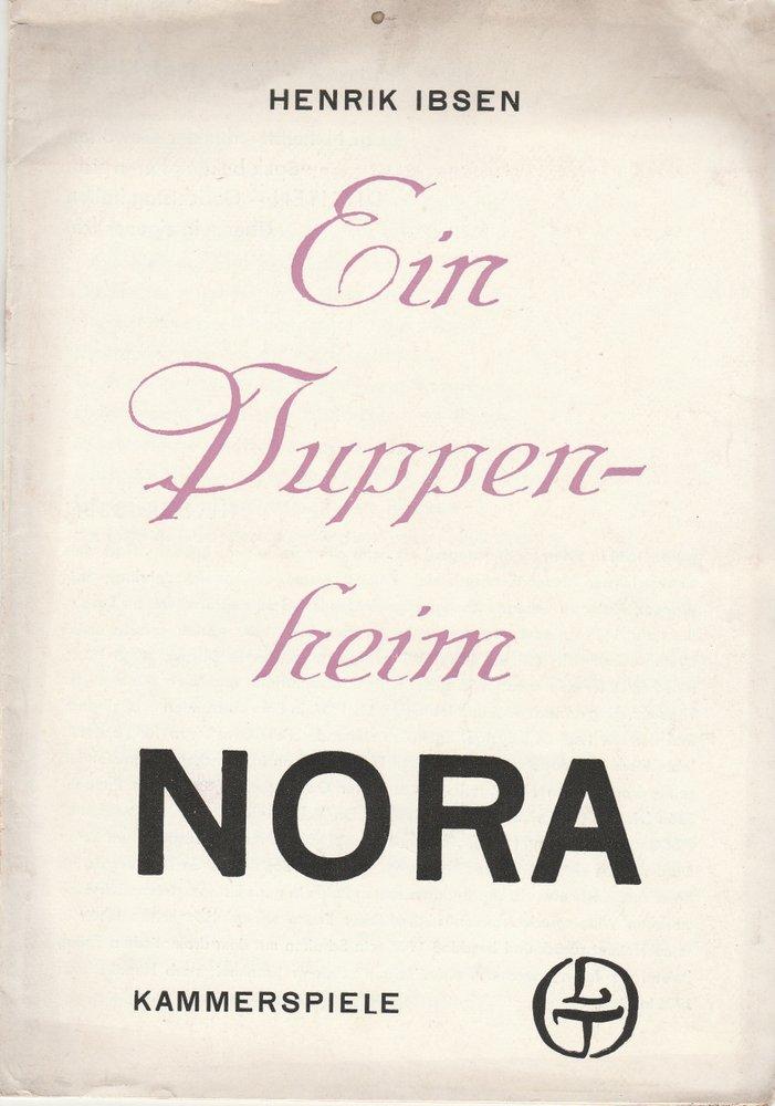 Programmheft Henrik Ibsen EIN PUPPENHEIM Theater Leipzig 1970