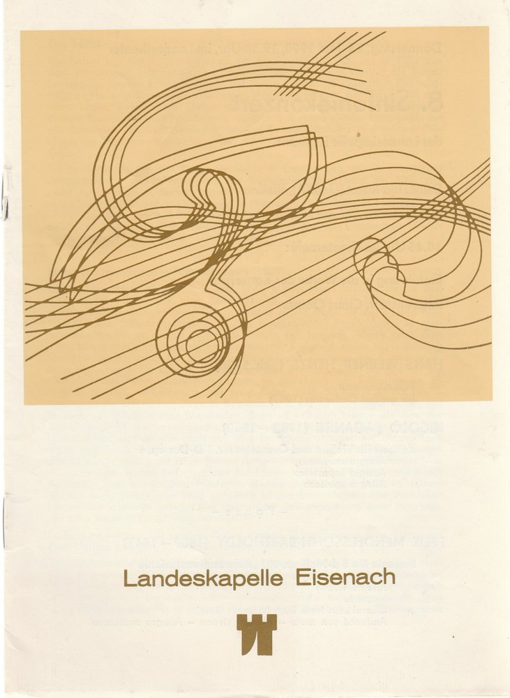 Programmheft LANDESKAPELLE EISENACH 8. SINFONIEKONZER Theater Eisenach 1990