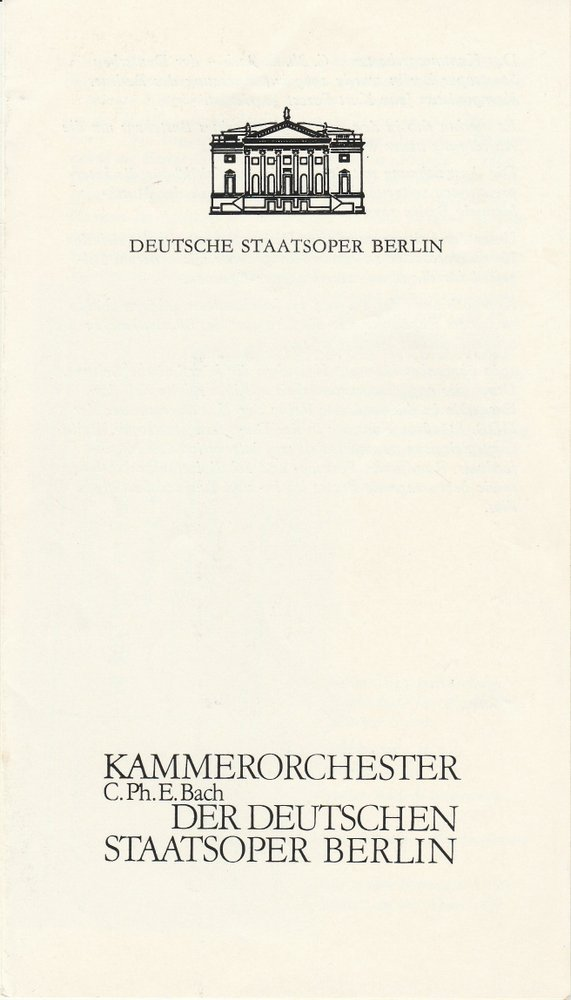 Programmheft CHORINER MUSIKSOMMER 1985 Kloster Chrorin 1985