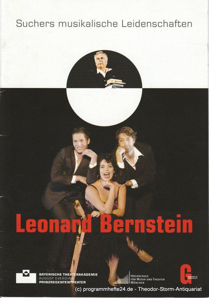 Programmheft Suchers musikalische Leidenschaften Leonard Bernstein.