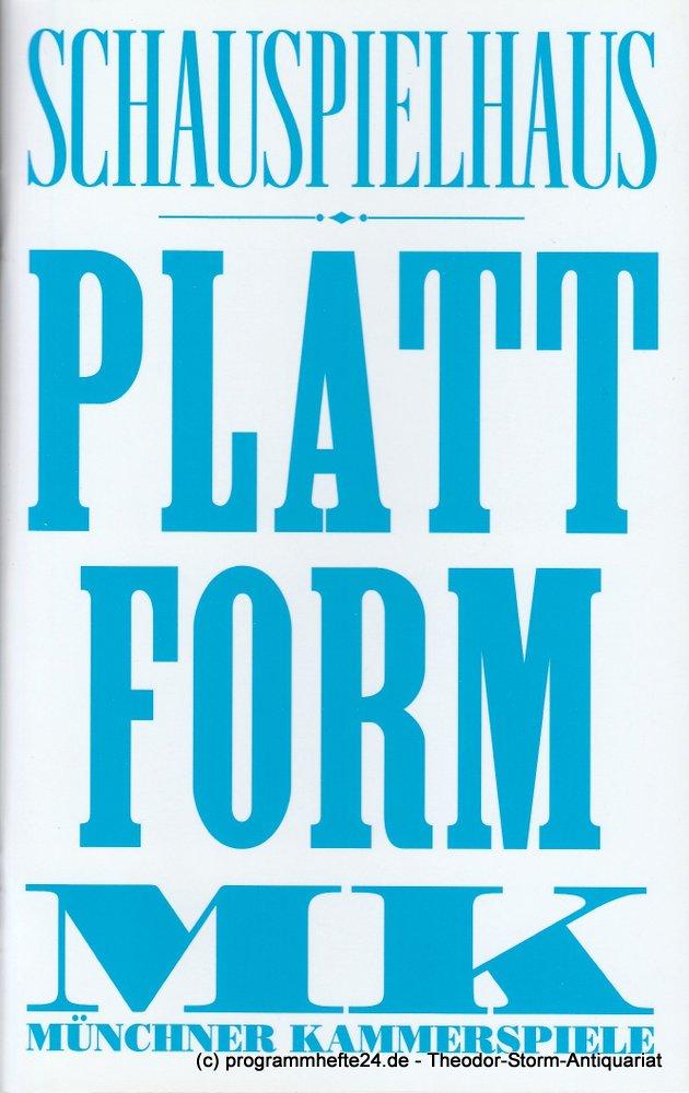 Programmheft PLATTFORM von Michel Houellebecq Münchner Kammerspiele 2013