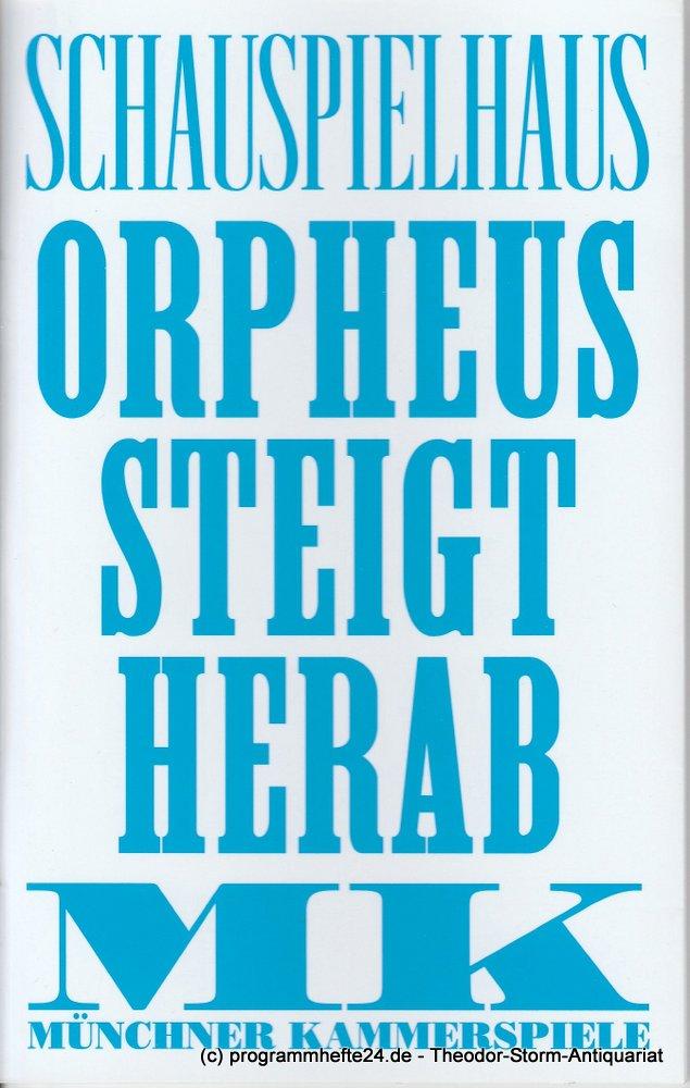 Programmheft Orpheus steigt herab Münchner Kammerspiele 2012