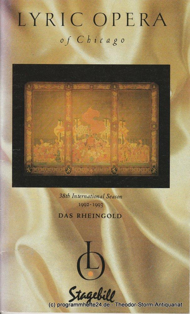 Programmheft Richard Wagner: DAS RHEINGOLD. Lyric Opera of Chicago 1992