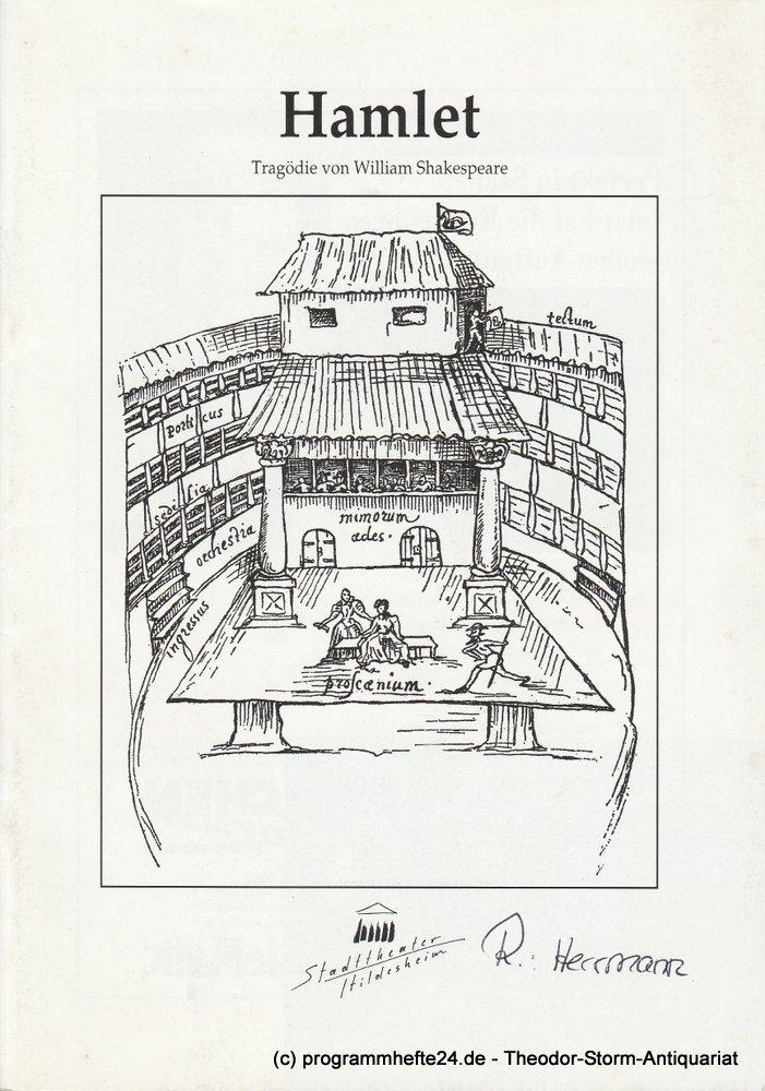 Programmheft HAMLET von William Shakespeare. Stadttheater Hildesheim 2000