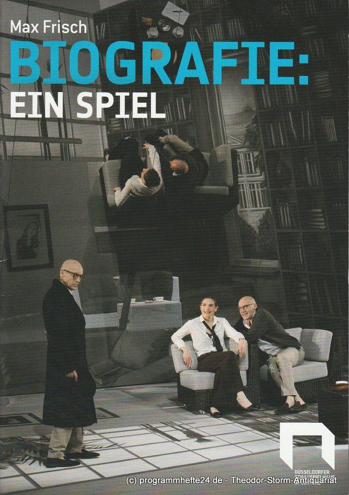 Programmheft Max Frisch: BIOGRAFIE: Ein Spiel. Düsseldorfer Schauspielhaus 2016