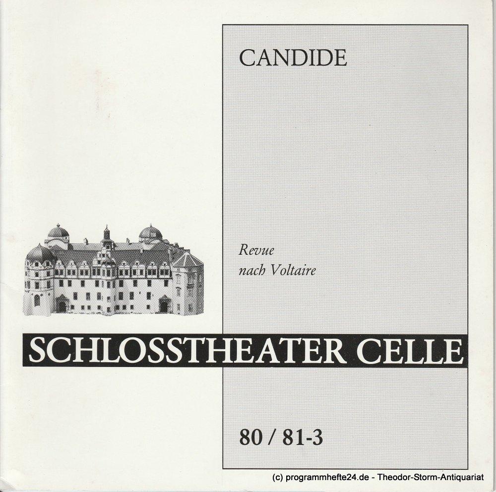 Programmheft CANDIDE. Revue nach Voltaire Schlosstheater Celle 1980