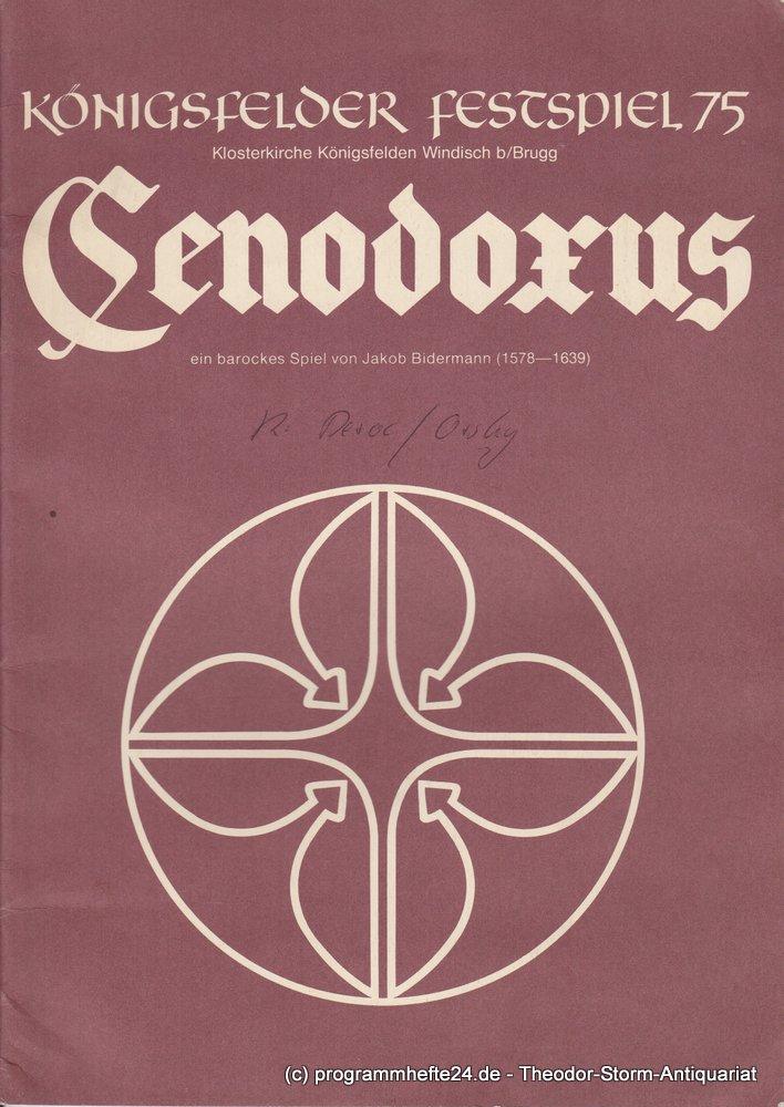 Programmheft Cenodoxus ein barockes Spiel Königsfelder Festspiel 1975