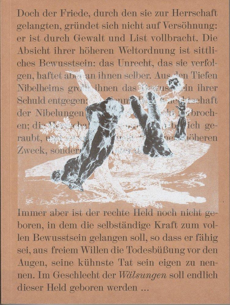 Programmheft Die Walküre Richard Wagner Bayerische Staatsoper 2012