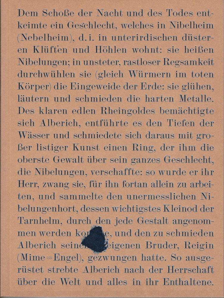 Programmheft Das Rheingold von Richard Wagner Bayerische Staatsoper 2012