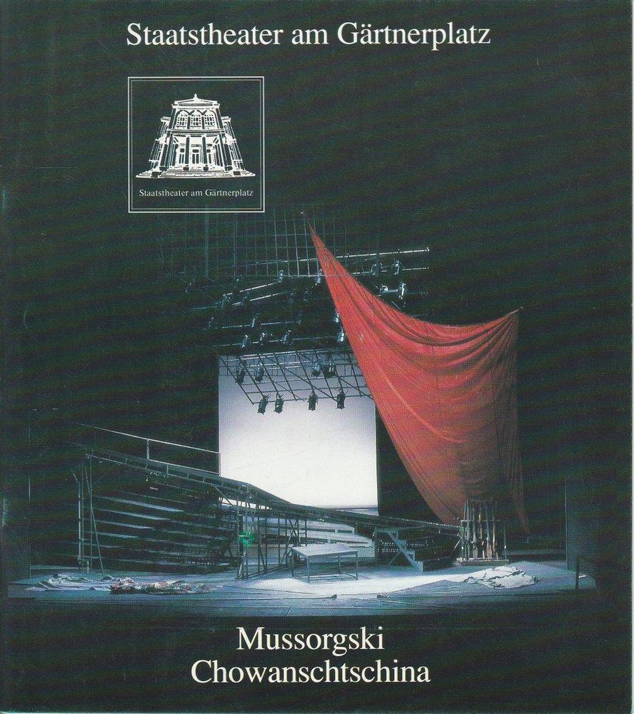 Programmheft Chowanschtschina Staatstheater am Gärtnerplatz 1992