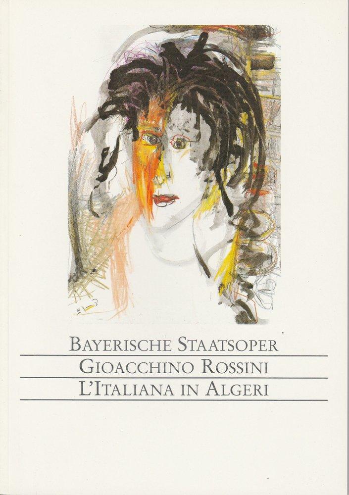 Programmheft L'ITALIANA IN ALGERI Bayerische Staatsoper Nationaltheater 1991
