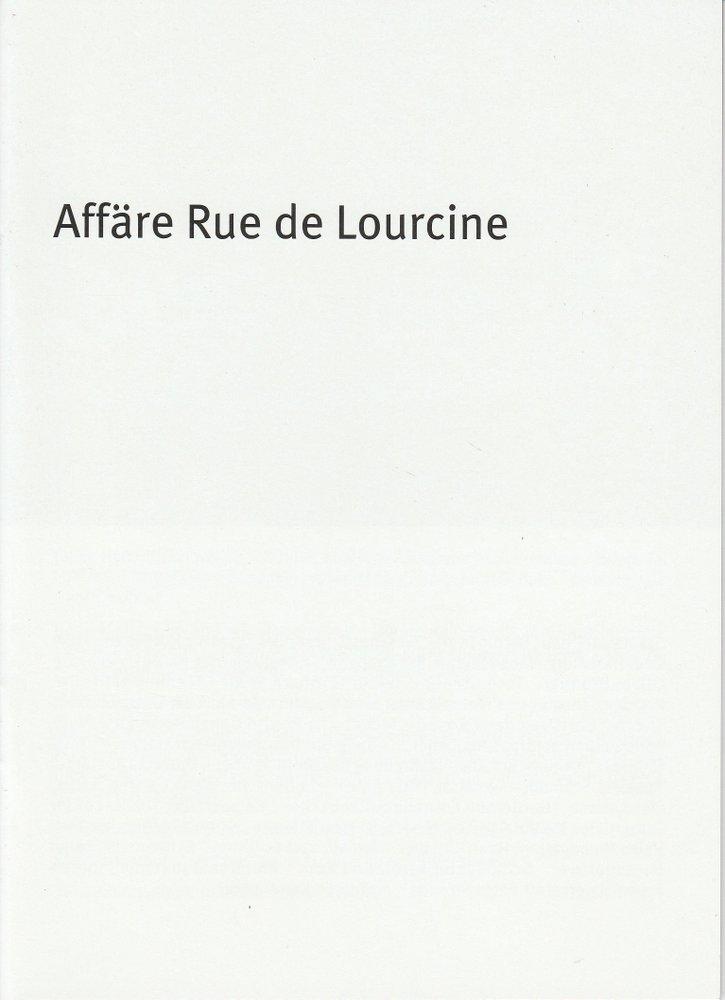 Programmheft E.Labiche: Affäre Rue de Lourcine Bayerisches Staatsschauspiel 2010