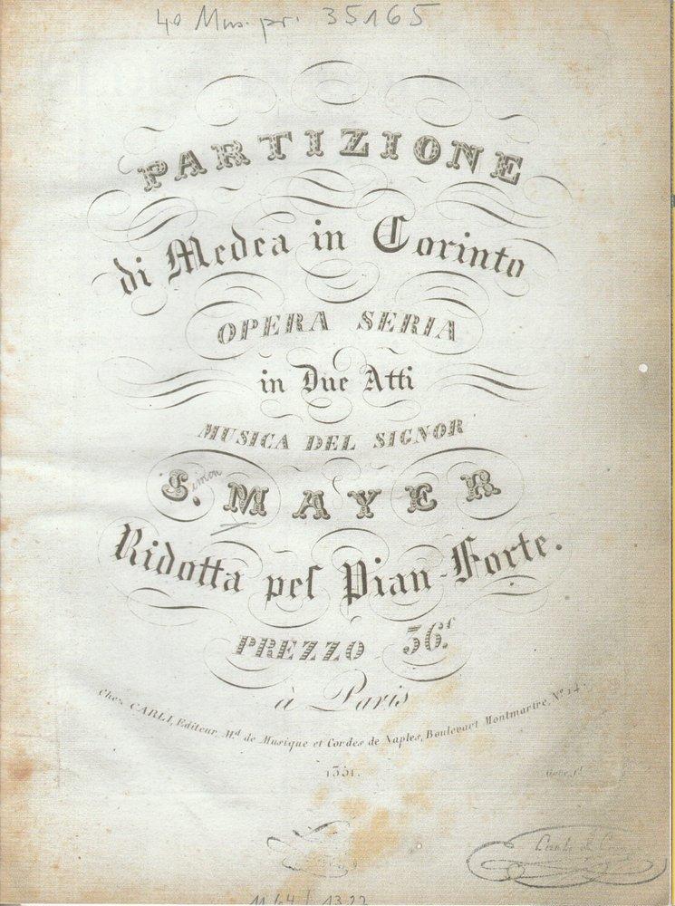 Programmheft MEDEA IN CORINTO Bayerische Staatsoper 2010
