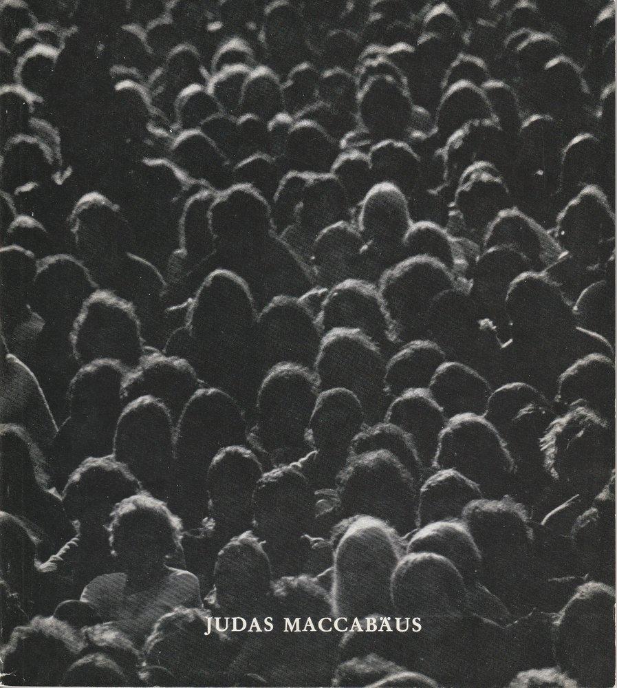 Programmheft JUDAS MACCABÄUS Bayerische Staatsoper 1980