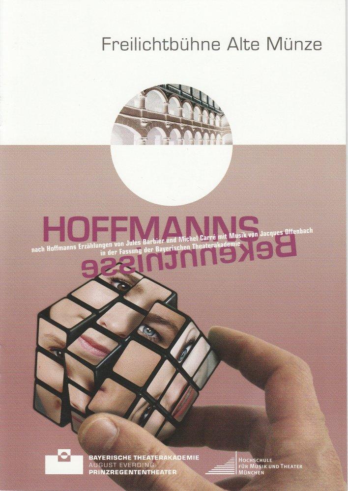 Programmheft Hoffmanns Bekenntnisse Bayerische Theaterakademie 2010