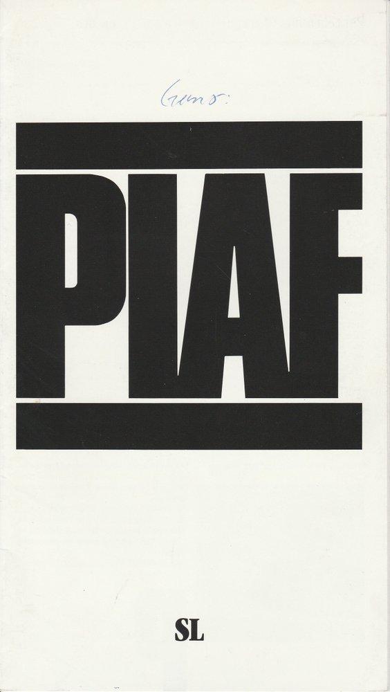 Programmheft PIAF. Musical von Pam Gems Stadttheater Luzern 1992