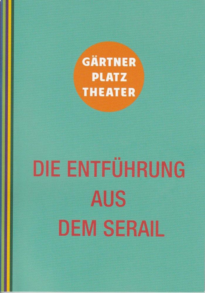 Programmheft Die Entführung aus dem Serail Staatstheater am Gärtnerplatz 2014